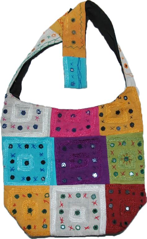 Patchwork Bag - indian patchwork embroidered handbag purses bags sale