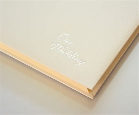 Wedding Album Page Size by Large Leather Wedding Album In Ivory White