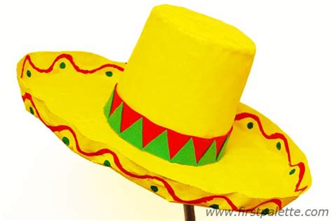 How To Make A Sombrero Hat Out Of Paper - papier mache hat craft crafts firstpalette
