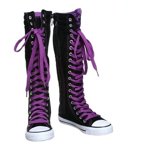 thigh high converse lace up sneakers 25 best ideas about converse boots on chucks