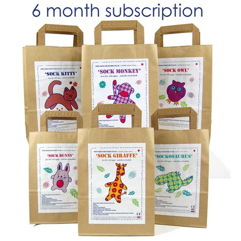 craft kits for sock creature craft kit subscription by sock creatures