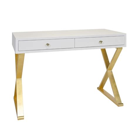 white and gold desk away jared white lacquer desk on gold leafed base