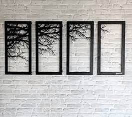 home decor wall hangings tree branch framed wall decor laser cutting metal wall art