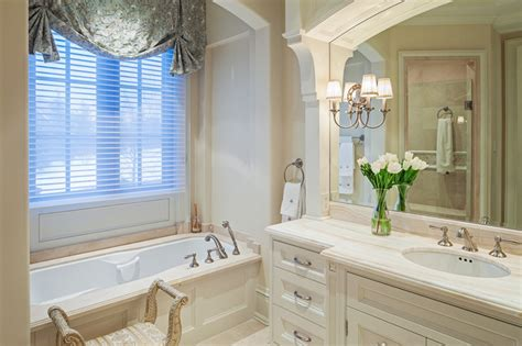 Tudor style home with french interiors traditional bathroom