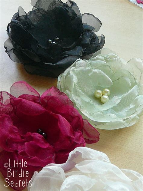 tutorial rose in organza how to make organza flowers bloemen pinterest