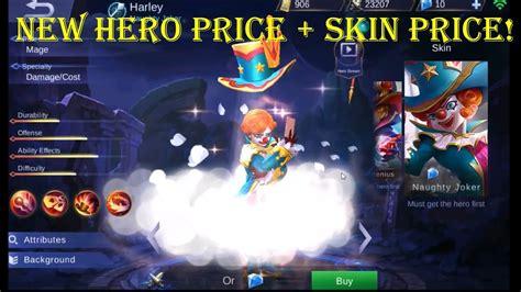 codashop mobile legend skin mobile legends new hero harley price skin price