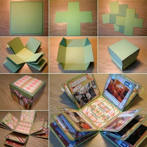 Handmade Gift Box Tutorial - 15 easy handmade birthday gift cards step by step k4