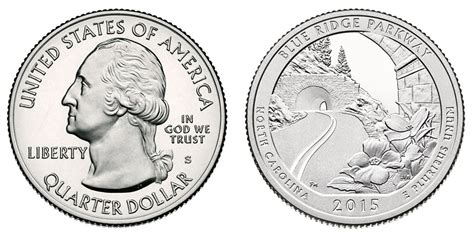 blue and the quarters 2015 s blue ridge parkway quarters proof value and prices