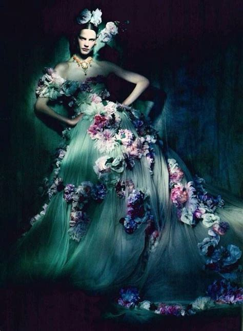 dolce gabbana strapless gown coupled   blossoms