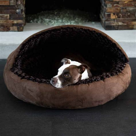 dog cave bed large omega hooded cave covered dog bed extra large for large