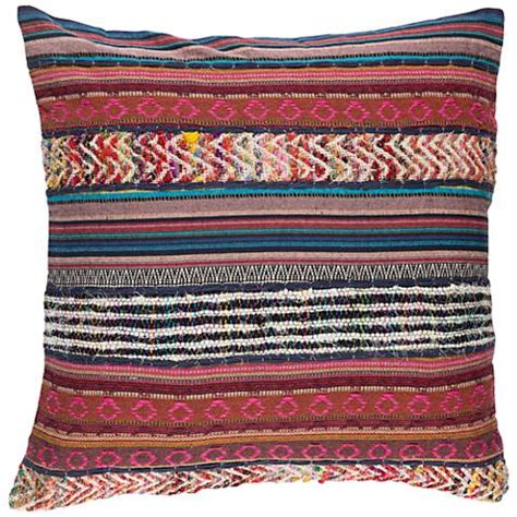 surya marrakech pink and brown 20 quot square throw pillow