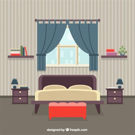 bedroom interior vector free