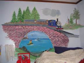 train murals for walls thomas the train wall mural flickr photo sharing