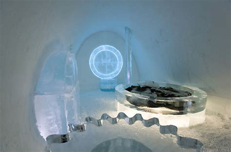 ice hotel quebec bathroom braving the elements unique travel beds today s briseis