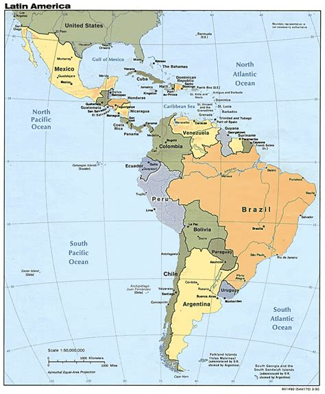 america map labeled labeled south america map
