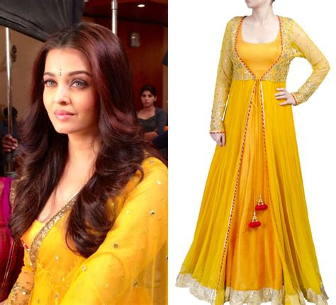 aishwarya anarkali aishwarya bachchan looks stunning in the yellow