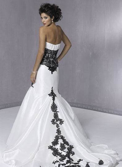 White Black Wedding Dresses by Trending