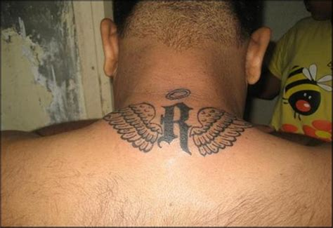 tattoos on back of neck 59 wonderful wings neck tattoos