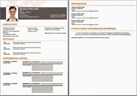 Plantillas De Curriculum Formato Word Plantillas De Curriculum Vitae Identi