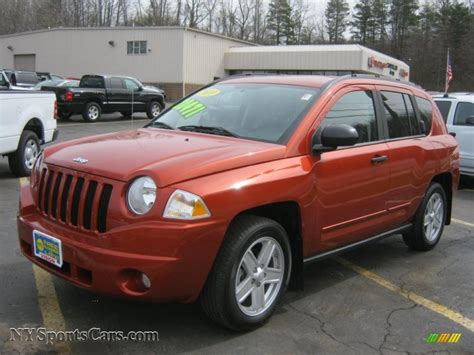 orange jeep compass 2010 jeep compass sport 4x4 in sunburst orange pearl