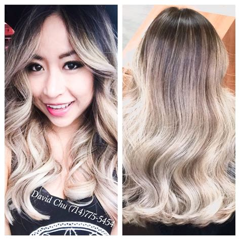 from platinum blonde to ombre from natural dark brown black to this gorgeous platinum