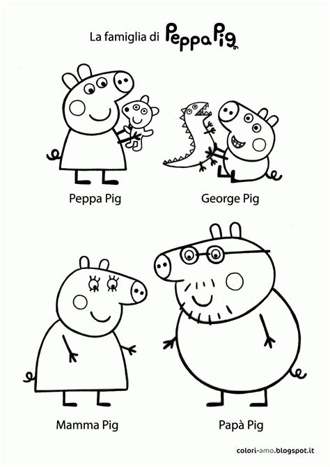 peppa pig coloring pages a4 peppa pig and friends coloring pages print coloring home