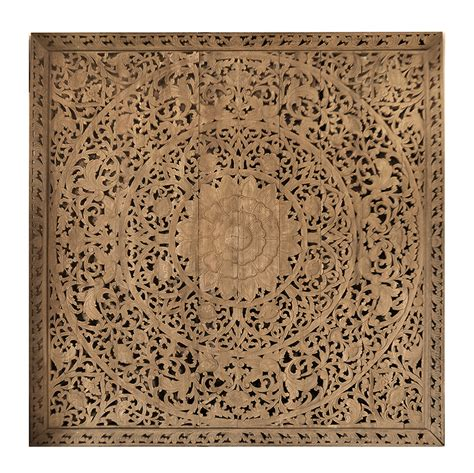 wooden wall large grand carved wooden wall or ceiling panel siam