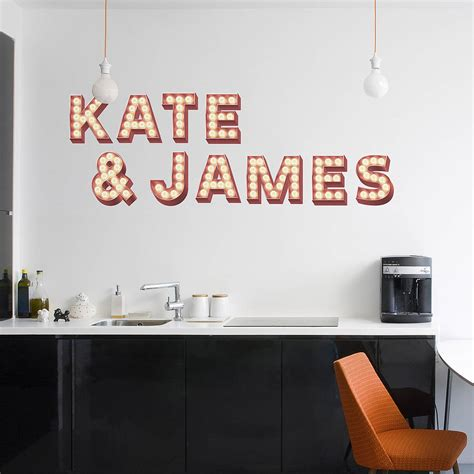 wall sticker writing retro cinema marquee letters wall sticker by oakdene