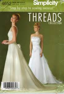 wedding dress patterns to sew simplicity sewing pattern 4652 misses wedding dress