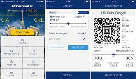 mobile check in ryanair ryanair launches new app and mobile boarding pass