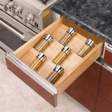 Kitchen Cabinet Drawer Inserts by Spice Racks Wood Spice Kitchen Drawer Insert By Rev A