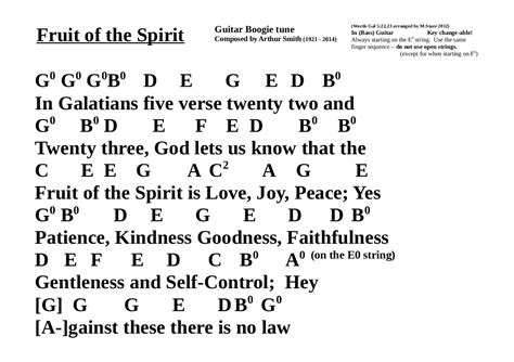 fruit of the spirit song trust and follow jesus songs