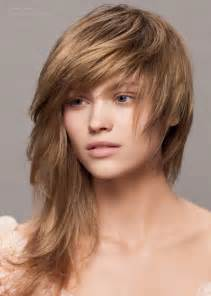 asymmetrical haircut with cutting in an angle along