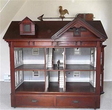 doll house cabinet details about important rare 1800 s antique massive cabinet american doll house museum