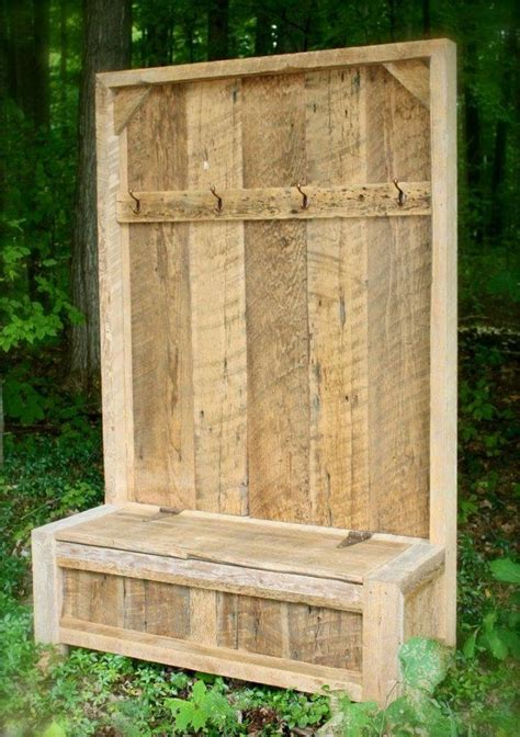 pallet entryway bench barn wood projects recycled