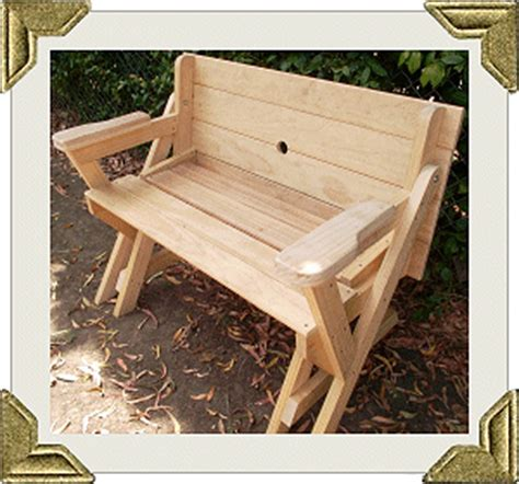 folding picnic table to bench seat free plans how awesome is this diy pinterest