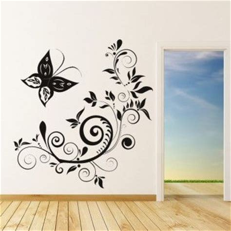 butterfly floral wall art sticker wall decal butterfly