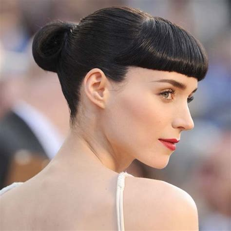 hairstyles with bangs and buns hairstyles that look good with blunt bangs aelida