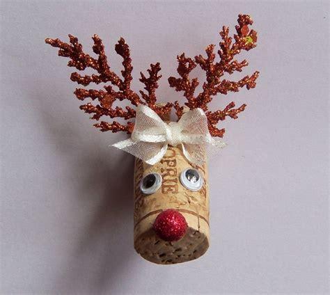 Handmade Reindeer - wine cork reindeer magnet new handmade usa
