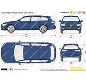 The Blueprintscom  Vector Drawing Volkswagen Passat