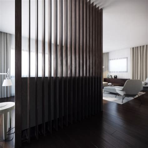 wood slat room divider interior design ideas