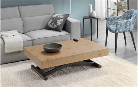 mesa de centro automatica elevable  extensible