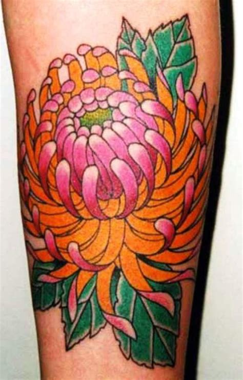 tattoo flower asian chrysanthemum tattoos tattoofanblog