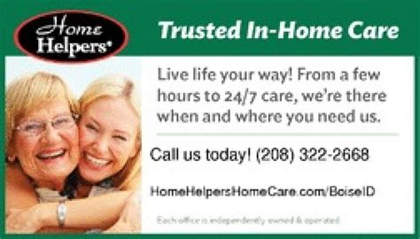 home helpers home care services boise 83713 home helpers