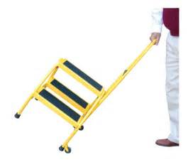 blue portable two step ladders with rubber matted steps dockladdersdepot com