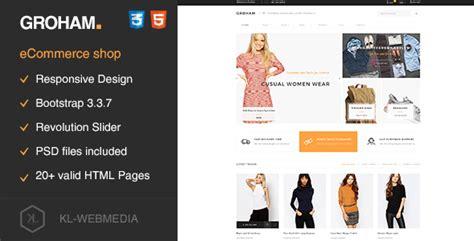 Gatsby V1 1 Ecommerce Theme themeforest groham v1 05 fashion ecommerce html template 187 mixwpthemes