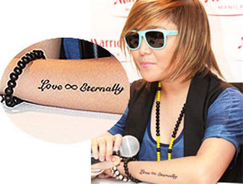 vice ganda tattoo on neck photos pinoy celebrity tattoos spot ph