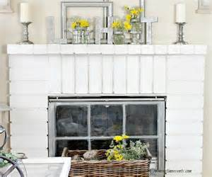 Spring fireplace mantel decorating ideas