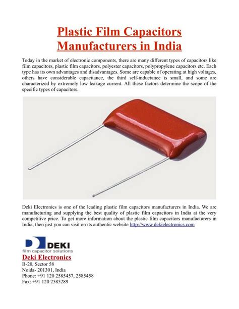 plastic capacitor manufacturers india capacitors manufacturers in india 28 images deki electronics presentations channel lexur