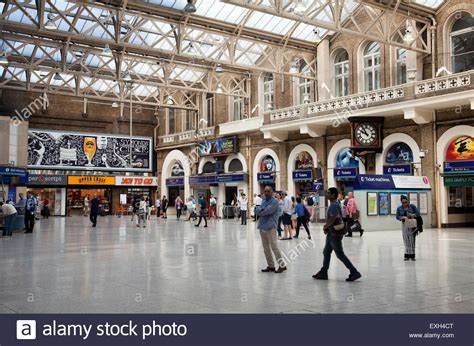 charing cross charing cross station concourse in uk stock photo